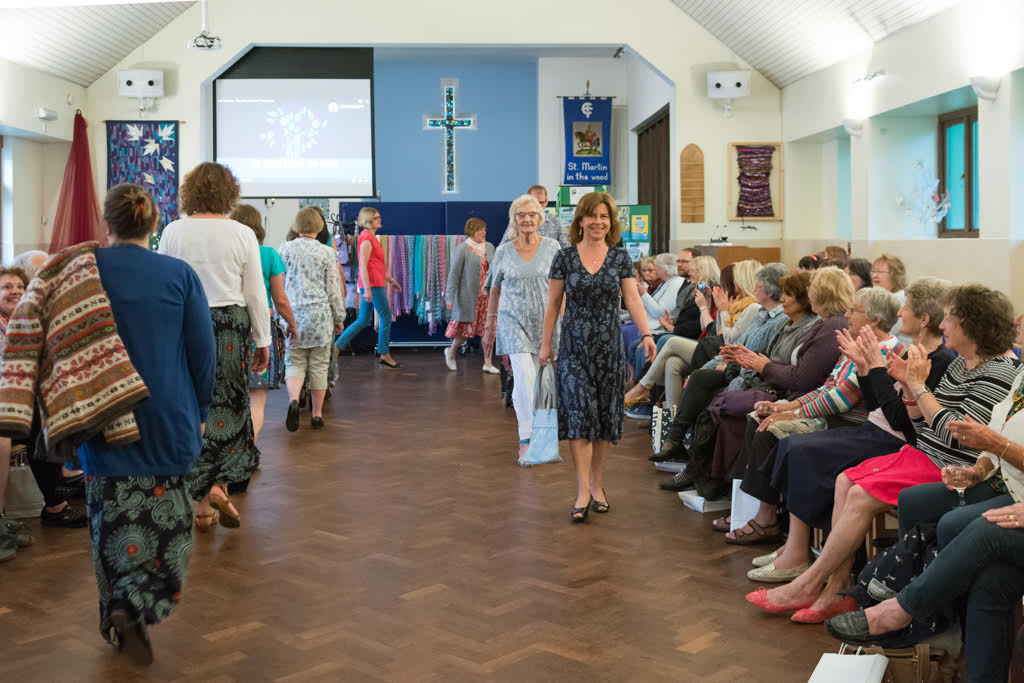 Fairtrade fashion show st Martin in the Wood 2016 May models. Image credit: Nigel Barker.
