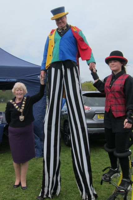 Eastleigh Mayor Councillor Jane Welsh had a good time at Fryern Funtasia 2016, Chandler's Ford.