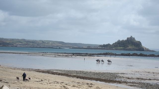 We walked from Penzance station to St. Michael's Mount in Cornwall.