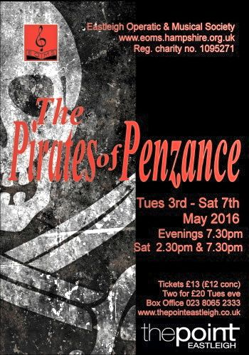 Pirates of Penzance: Eastleigh Operatic & Musical Society. The Point theatre.