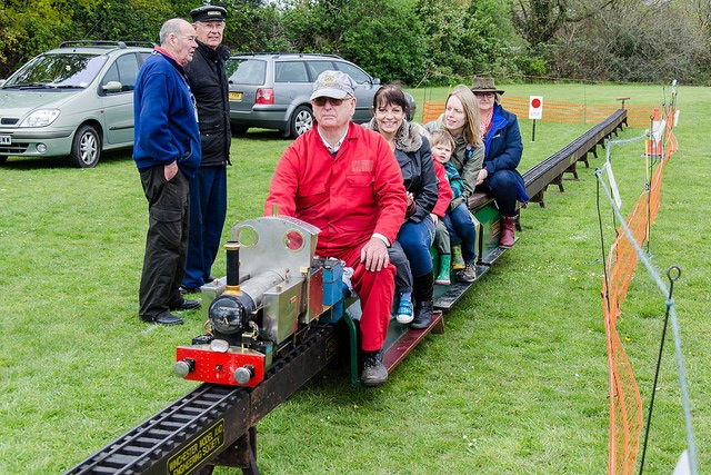 Steam train rides provided by Winchester Model and Engineering Society. Image credit: Daniel Newcombe.