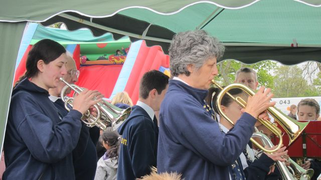 The 1st Chandler's Ford Boys' Brigade Band.