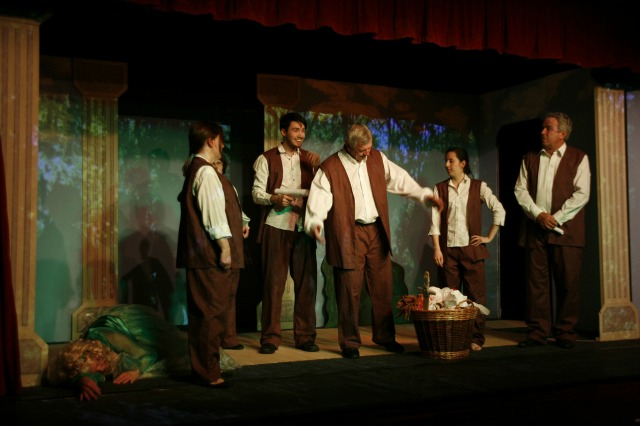 The rehearsal in the Forest Scene - image by Dave Wilkins