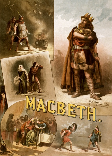 Macbeth, a favourite Shakespeare play - image via Pixabay