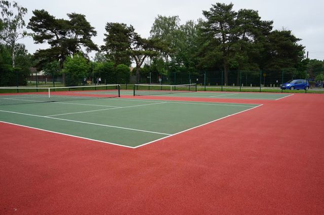 Tennis courts at Hiltingbury Recreation ground.