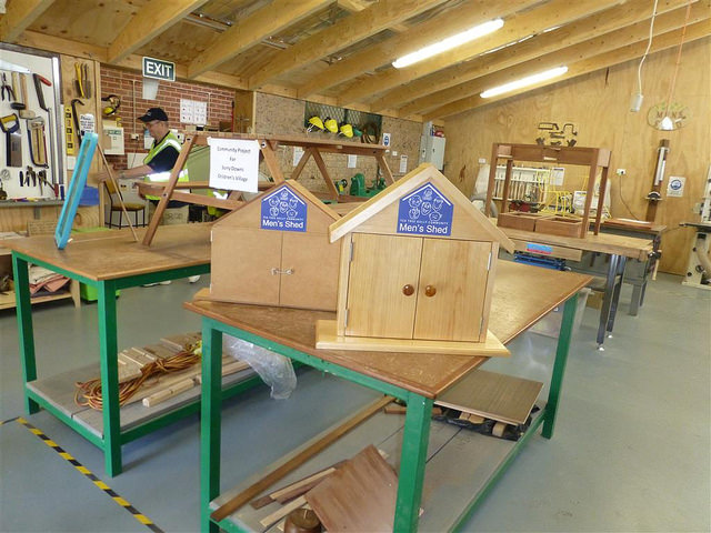 "A Men's Shed in the <a href=""https://www.flickr.com/photos/cttg/25078925055/"">City of Tea Tree Gully</a>, South Australia."