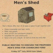 Public Meeting: Men's Shed Coming to Chandler's Ford