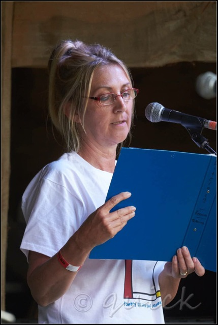 Performance Poetry at New Forest Festival - image kindly supplied by Graham Quick