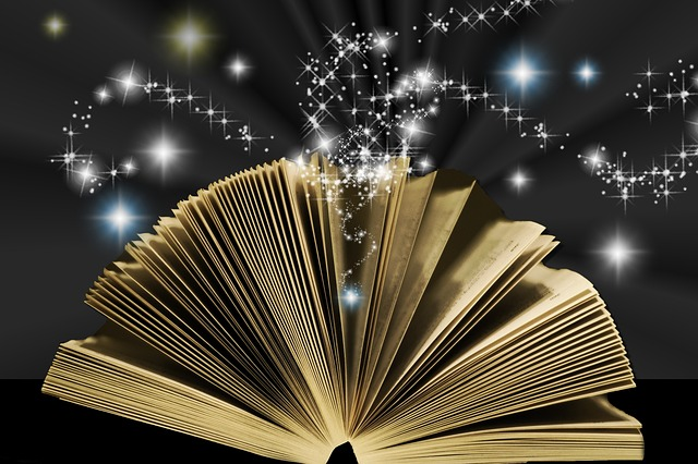 Books, whether poetry or prose, can be magical - image via Pixabay