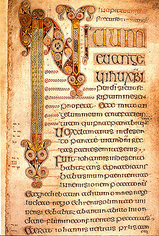 Book Of Durrow written in the Insular majuscule style