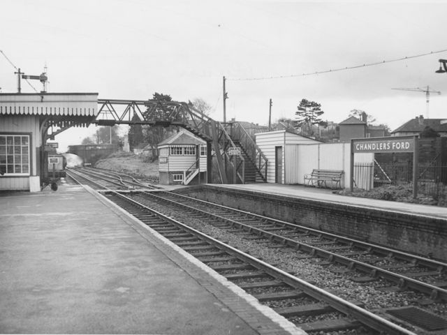 Chandler's Ford railway station. Image credit: Eastleigh and District Local History Society.
