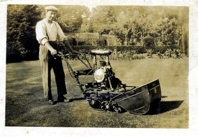 "My dad (""Ted"" White) - under gardener at Hazlewood in early 1920s."