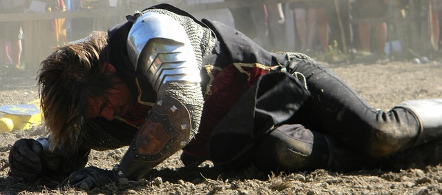 A Beaten Knight But Richard III's injuries at Bosworth were-horrific. He was hacked down. Image via Pixabay