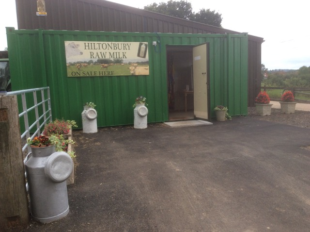 Farm Gate Office: Hiltonbury container where the milk is today.