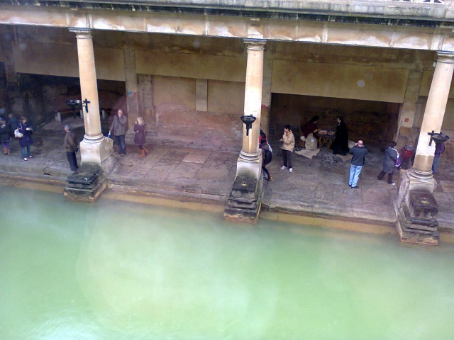 Looking down at the Baths.