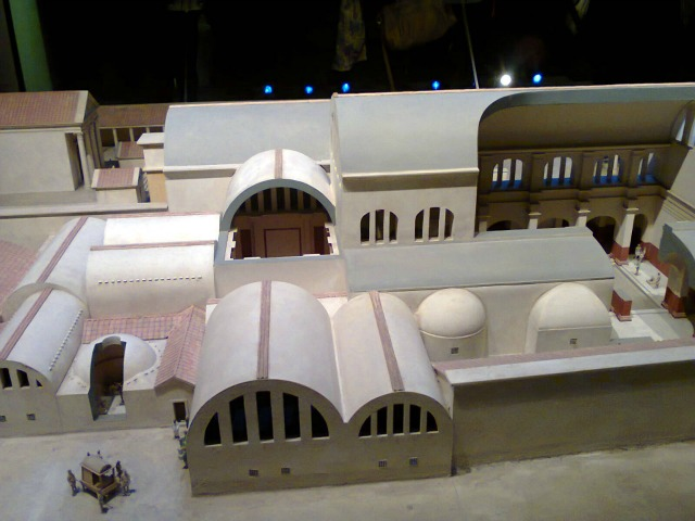 Model Reconstruction of how the area would have looked in Roman times.