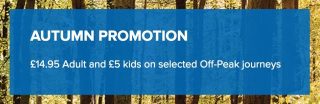 South West Train autumn offer 2016