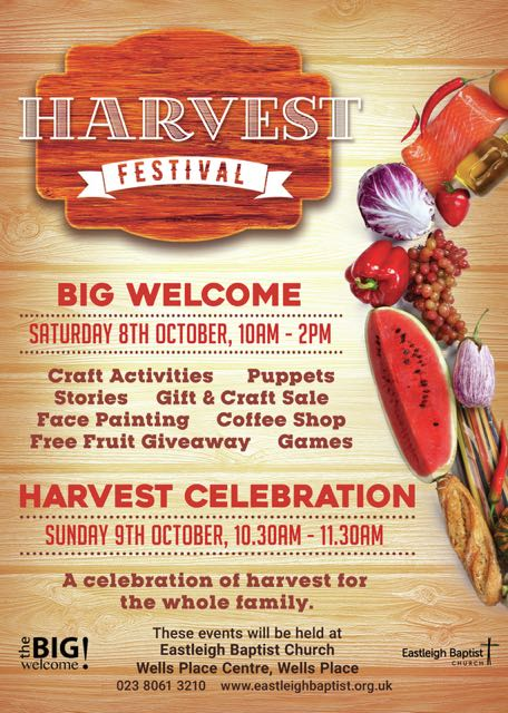 Harvest Festival Eastleigh Baptist Church October 2016