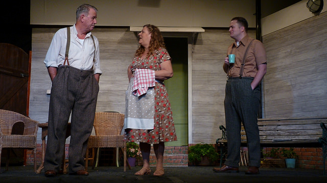 The Keller Family. All My Sons - performed by Chameleon Theatre Company, Chandler's Ford.