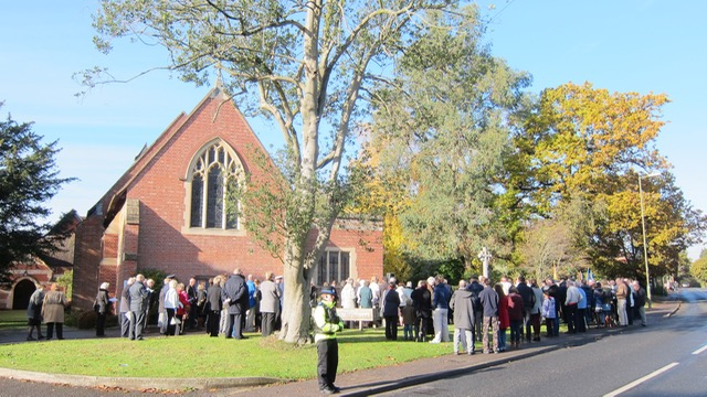 Chandler's Ford a service of Remembrance at the War Memorial and St. Boniface Church in Chandler's Ford 13 Nov 2016
