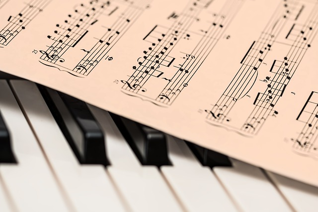 Classical Music Score. Image via Pixabay