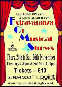 EOMS present an Extravaganza Of Musical Shows in Nov 2016 The Point theatre.