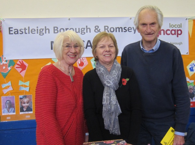 Eastleigh Borough and Romsey Mencap Society. (Left to right): Jackie, Elaine, Peter.
