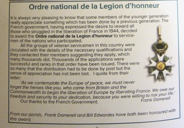 Ordre national de la Légion d'honneur, article by Frank Damerell.