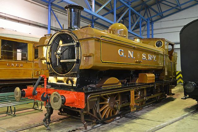 Railway locomotive in the livery of the fictional Great Northern and Southern Railway. Image by Alan Wilson via Flickr.