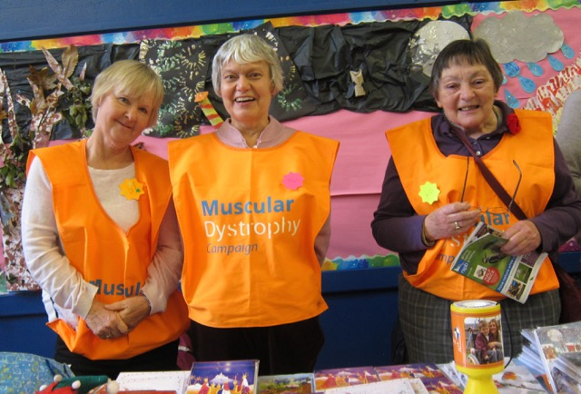 Muscular Dystrophy UK: fighting muscle-wasting conditions. (Left to right): Christine, Pam, Liz.