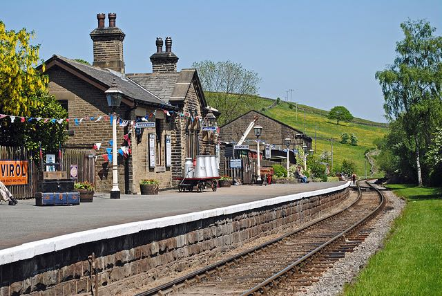 "Oakworth Station from the 1970 film ""The Railway Children"". Image by Tracy Gill via Flickr."