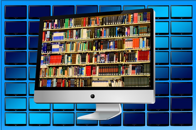 Computers and Tablets can store literally many thousands of e-books and e-magazines. Image via Pixabay