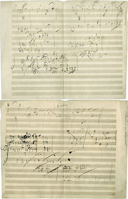 Part of one of Beethoven's compositions. Image via Pixabay