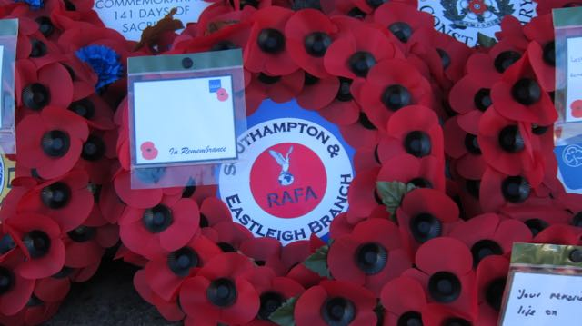 Frank laid a RAFA wreath at Chandler's Ford War Memorial.