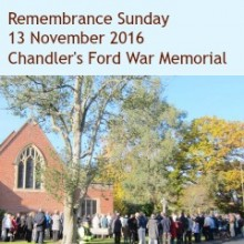 Remembrance Sunday in Chandler's Ford 2016