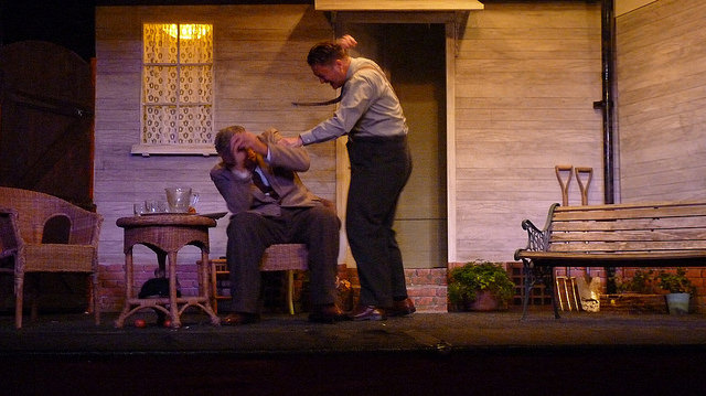 Revelation of the truth has devastating effects. All My Sons - performed by Chameleon Theatre Company, Chandler's Ford.