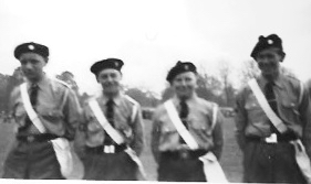Roger White (2nd from the left): the cadet inspection on Southsea common, 1956.