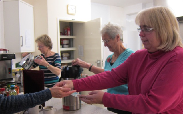 The friendly Coffee Room at Dovetail Centre, Chandler's Ford Methodist Church.