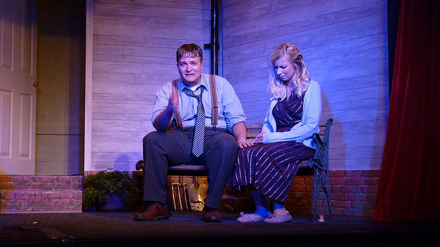 The not so happy couple. All My Sons - performed by Chameleon Theatre Company, Chandler's Ford.