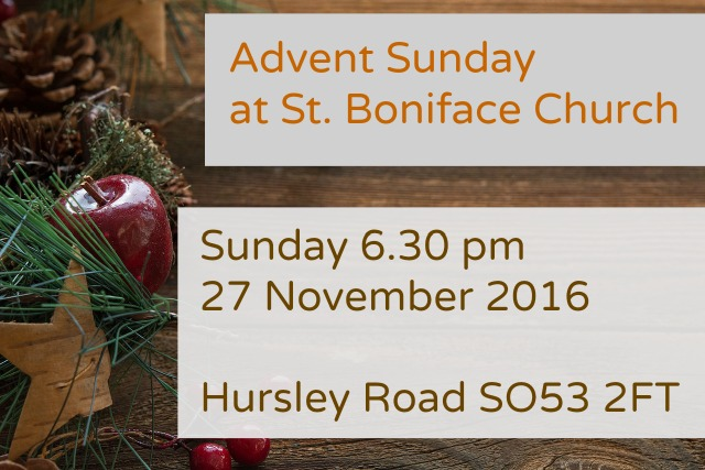 2016 Advent Sunday at St. Boniface Church Chandler's Ford SO53 2FT