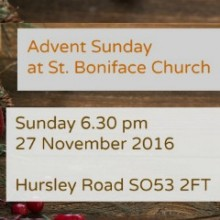 Advent Sunday at St Boniface Church: Sunday 27 November 2016