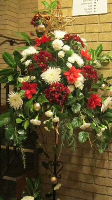 St. Boniface Church at Chandler's Ford - Christmas flowers arrangement.