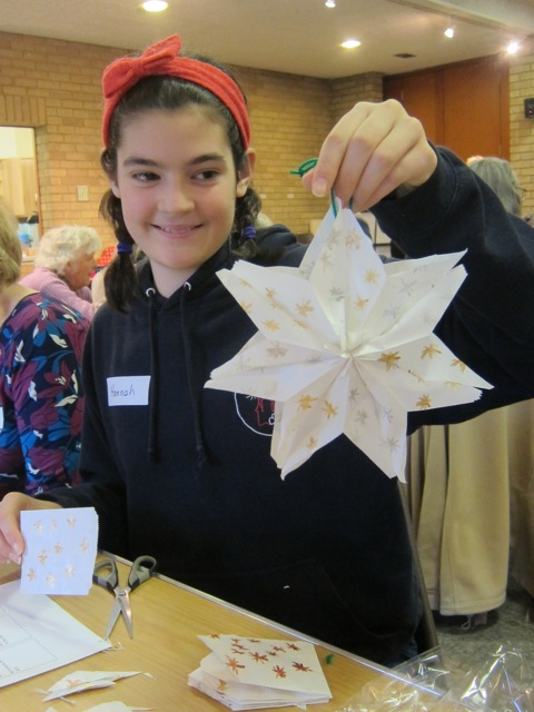 Hannah turned a few little paperbags into a stunning star.