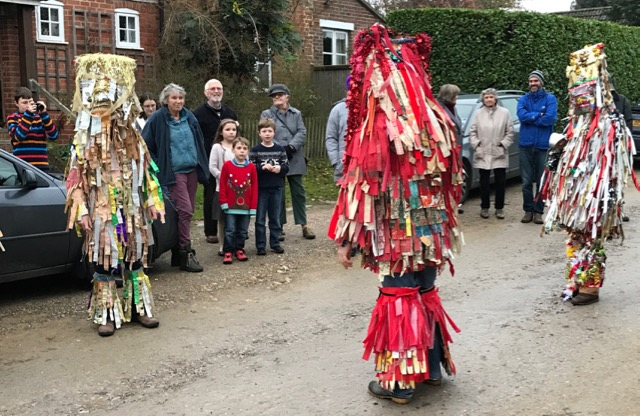 I was touched by the community spirit on display. The Otterbourne Mummers, Christmas 2016. Image credit: Sujata Gopinath.