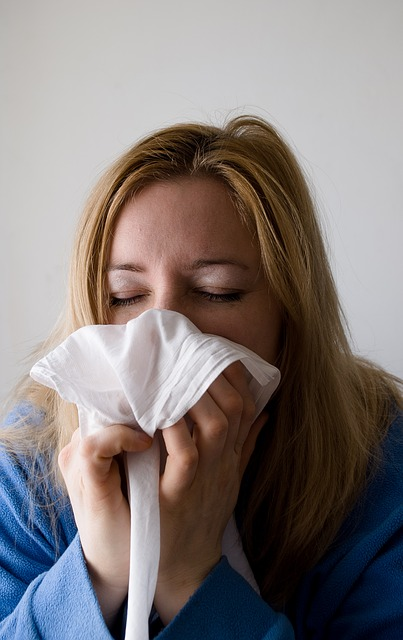Blowing your nose photo by Pixabay. Blowing your nose in to a tissue or handkerchief is acceptable.