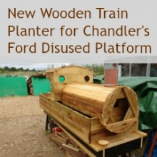 New Wooden Train Planter for Chandler's Ford Disused Platform