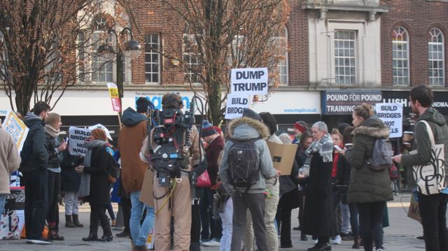 Dump Trump campaign in Southampton 21 Jan 17