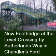 New Footbridge at the Level Crossing by Sutherlands Way in Chandler's Ford
