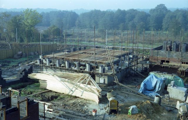North Millers Dale building site 1982.