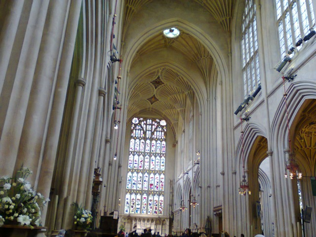 Inside Bath Abbey, following in Jane's footsteps, image by Allison Symes